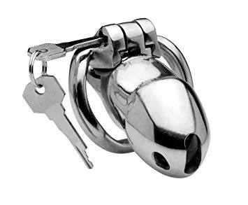 Master Series Rikers 24-7 Stainless Steel Locking Chastity Cage