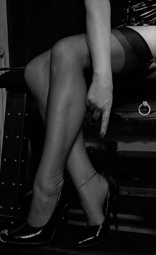 nylons and pointing down