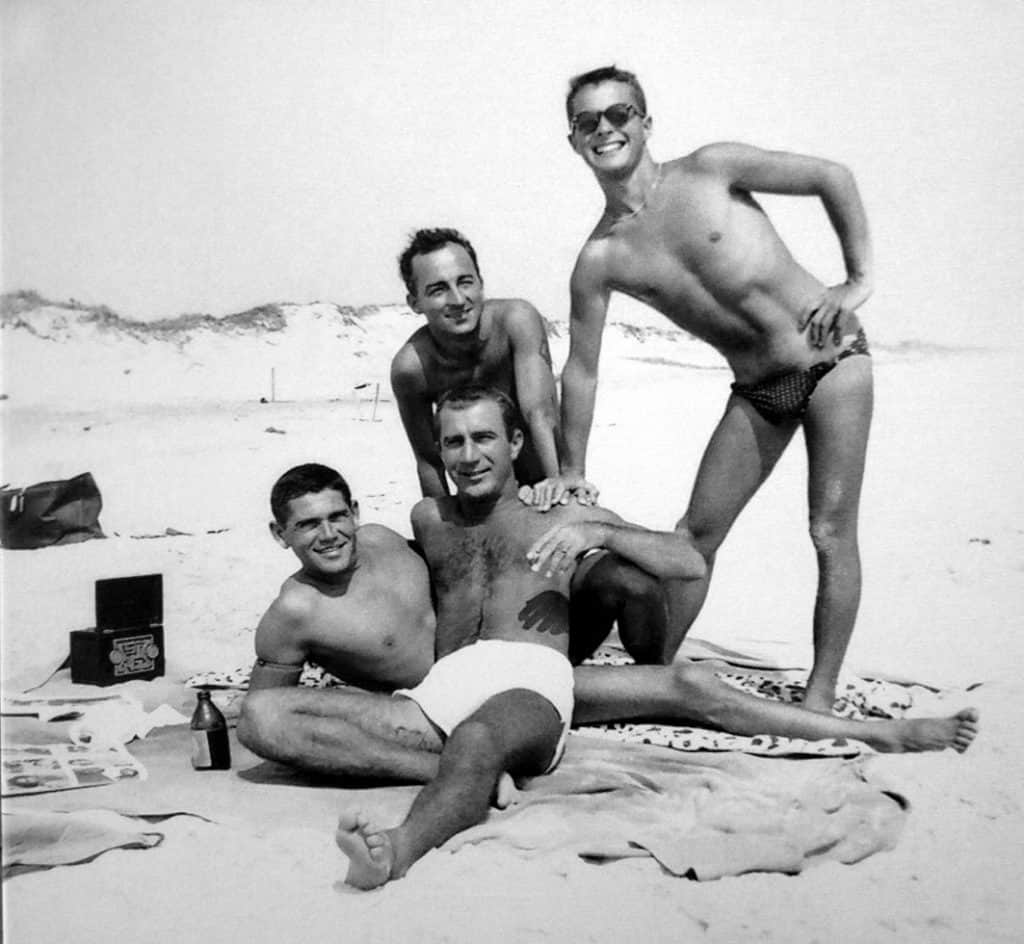 1950 gays party at the beach