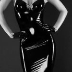 hourglass latex dress